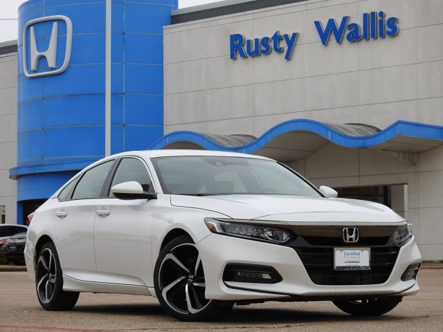 Pre-Owned 2018 Honda Accord Sport 1.5T I4 DOHC 16V Turbocharged VTEC